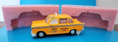 3D NEW YORK TAXI SILICONE MOULD