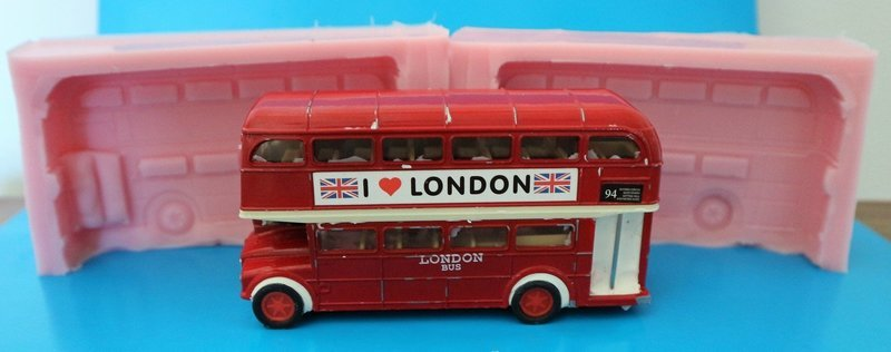 3D LONDON BUS SILICONE MOULD