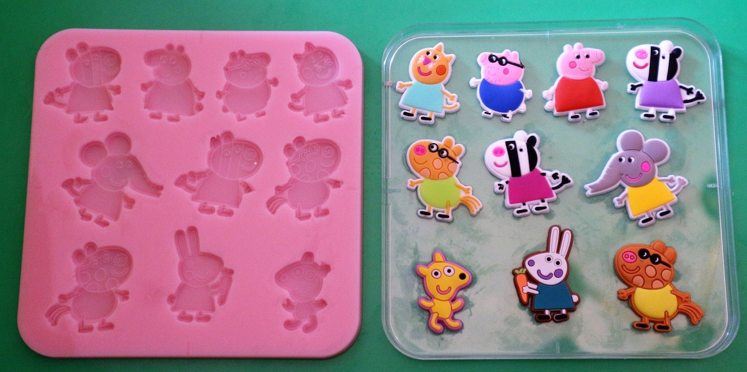 PEPPA PIG FRIENDS 002 SILICONE MOULD
