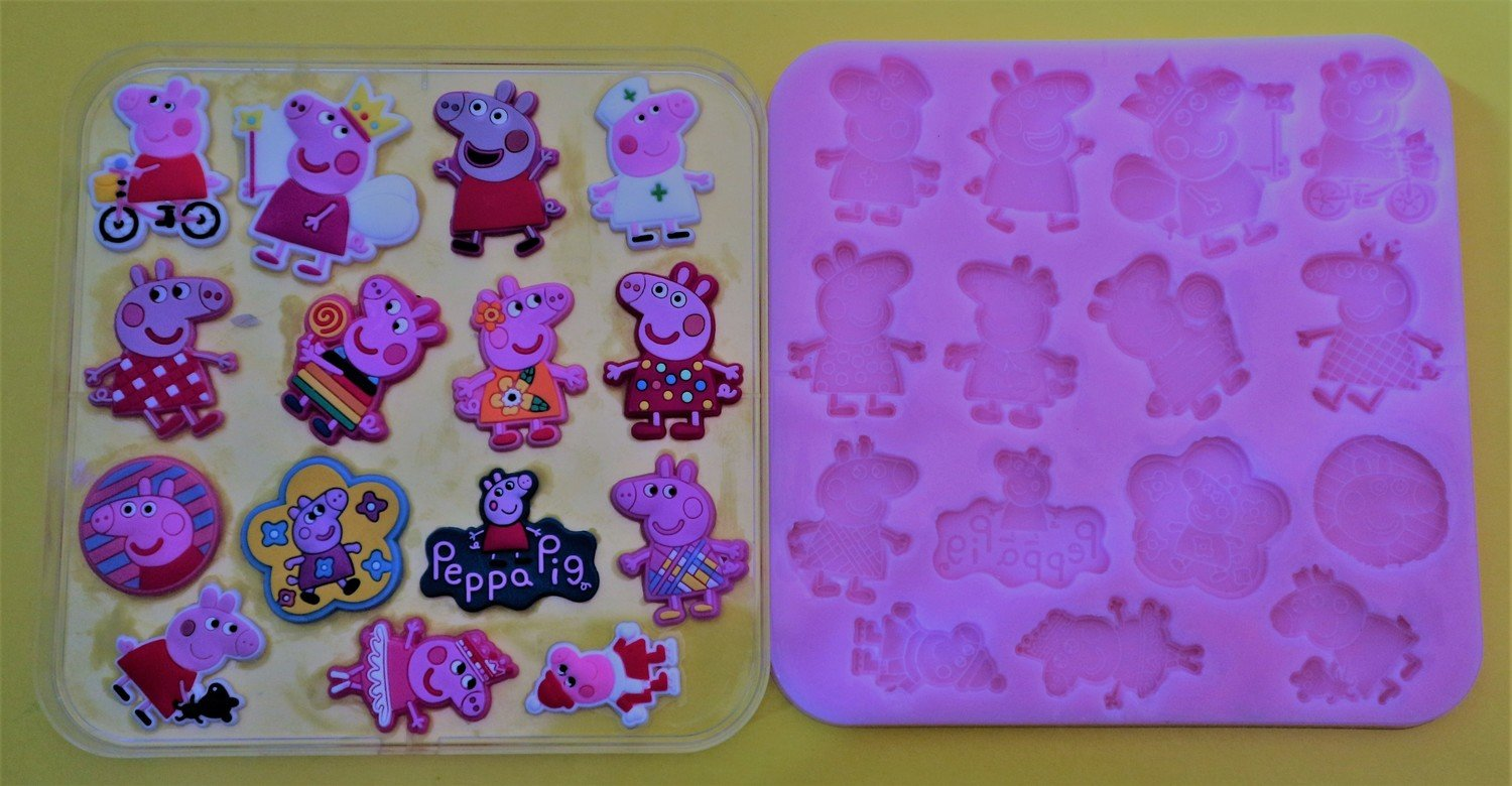 PEPPA PIG SET 002 SILICONE MOULD