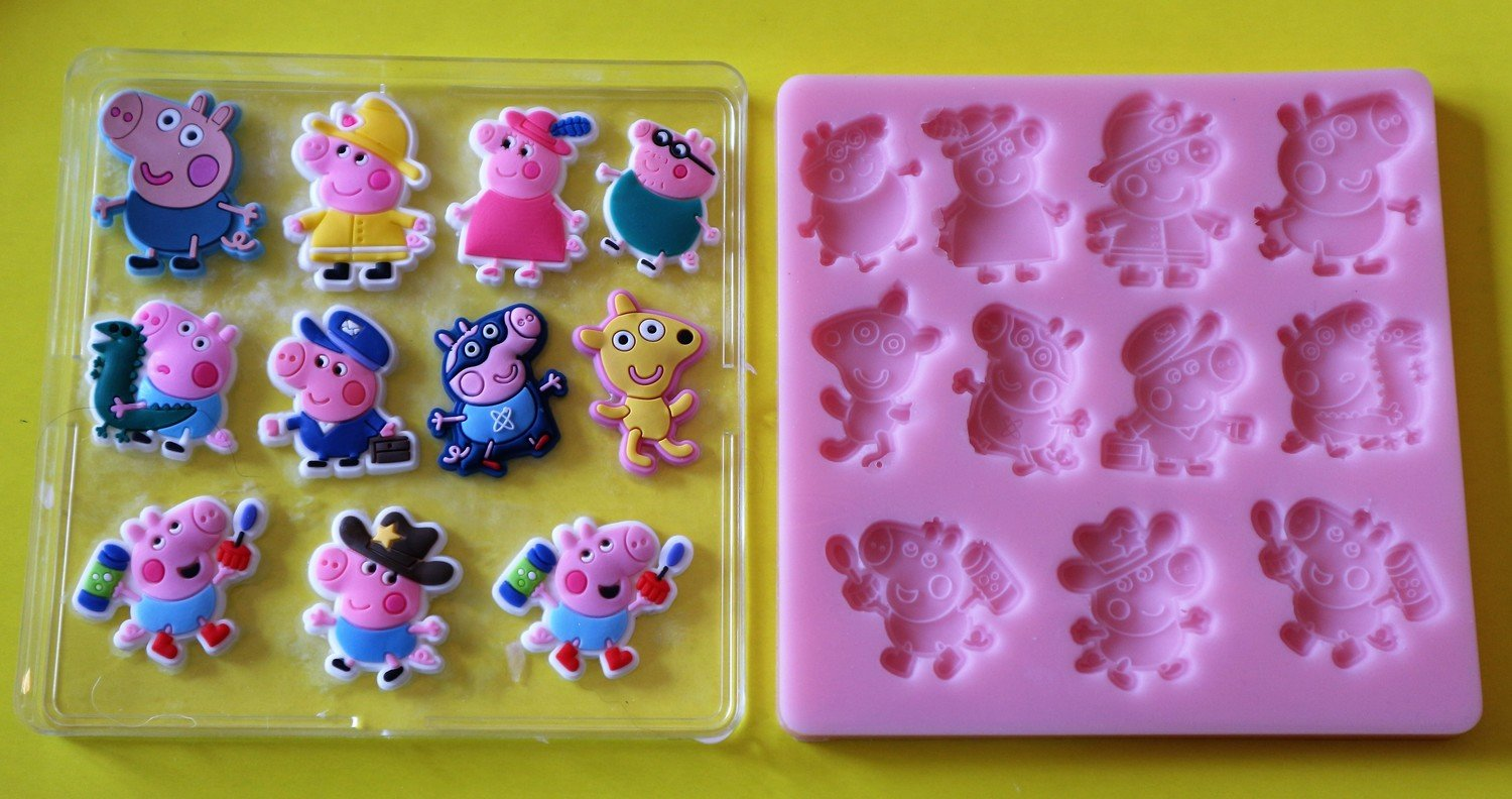 GEORGE PIG SET SILICONE MOULD