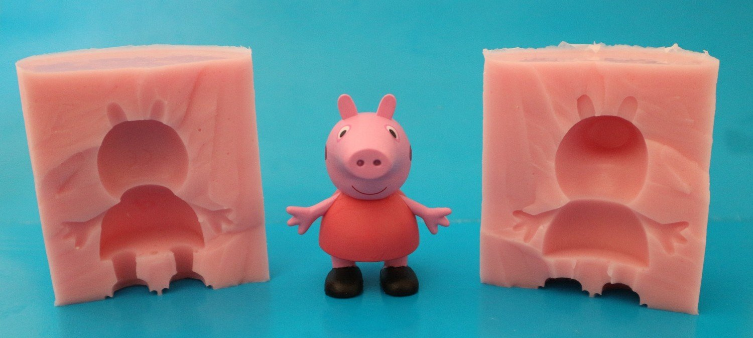 3D PEPPA PIG 002 SILICONE MOULD