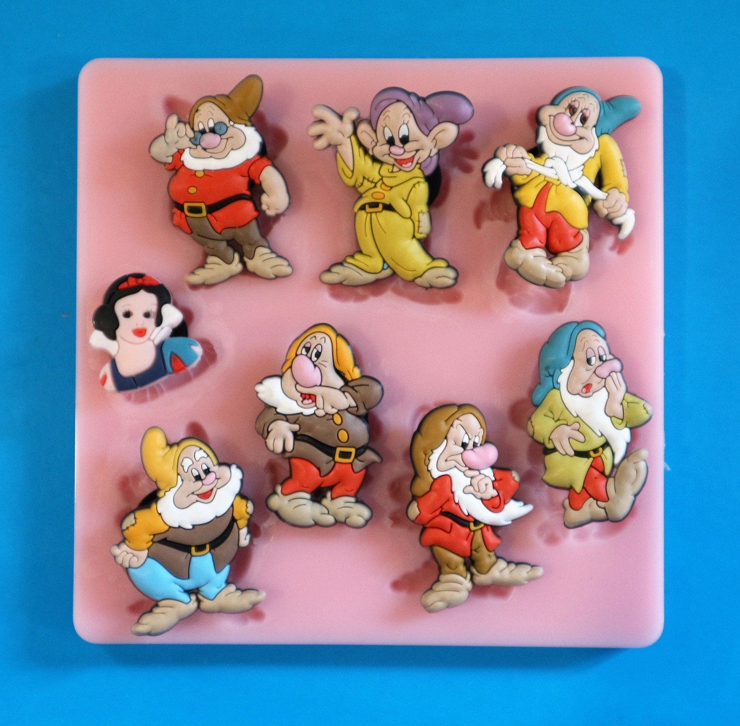 SNOW WHITE AND THE SEVEN DWARFS SILICONE MOULD