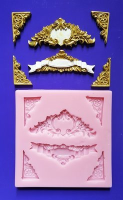 ORNATE BORDERS AND CORNERS SILICONE MOULD