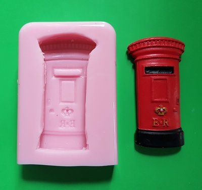 BRITISH POST BOX SILICONE MOULD