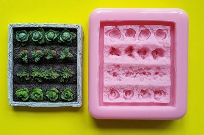 VEGETABLE PATCH SILICONE MOULD