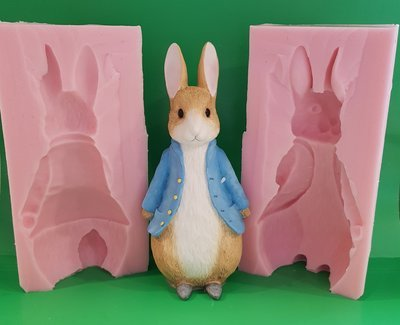3D LARGE PETER RABBIT SILICONE MOULD