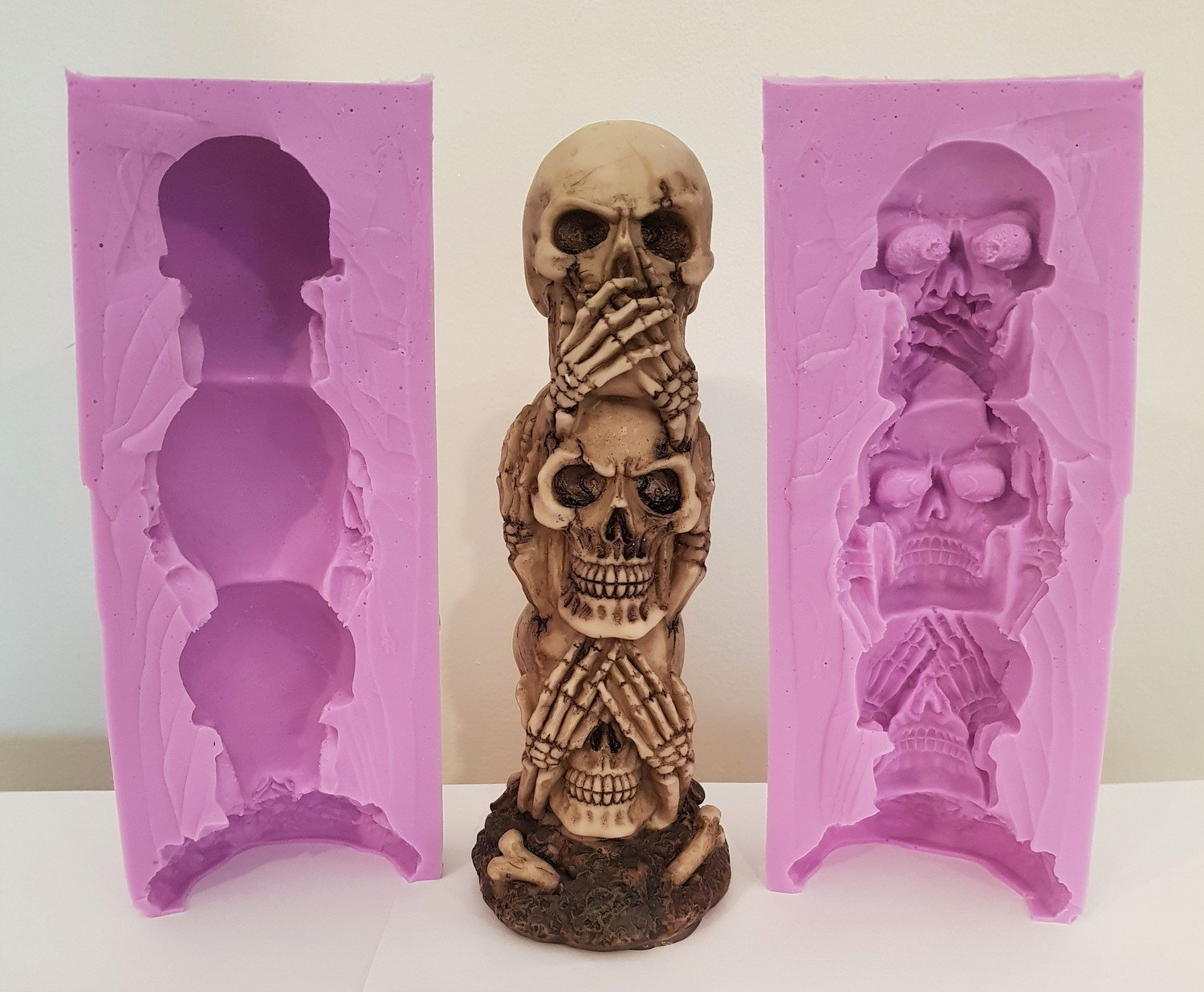 3D TALL SKULLS SILICONE MOULD