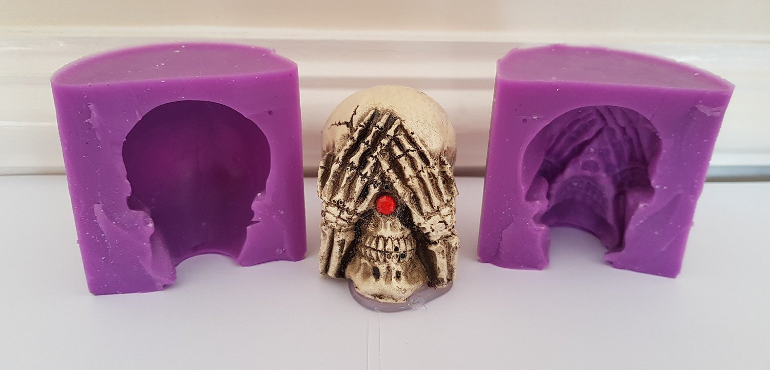 3D SEE NO EVIL SKULL SILICONE MOULD