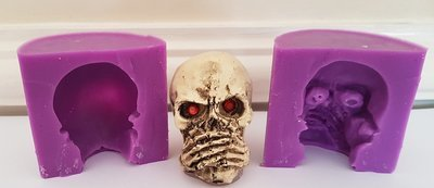 3D SPEAK NO EVIL SKULL SILICONE MOULD
