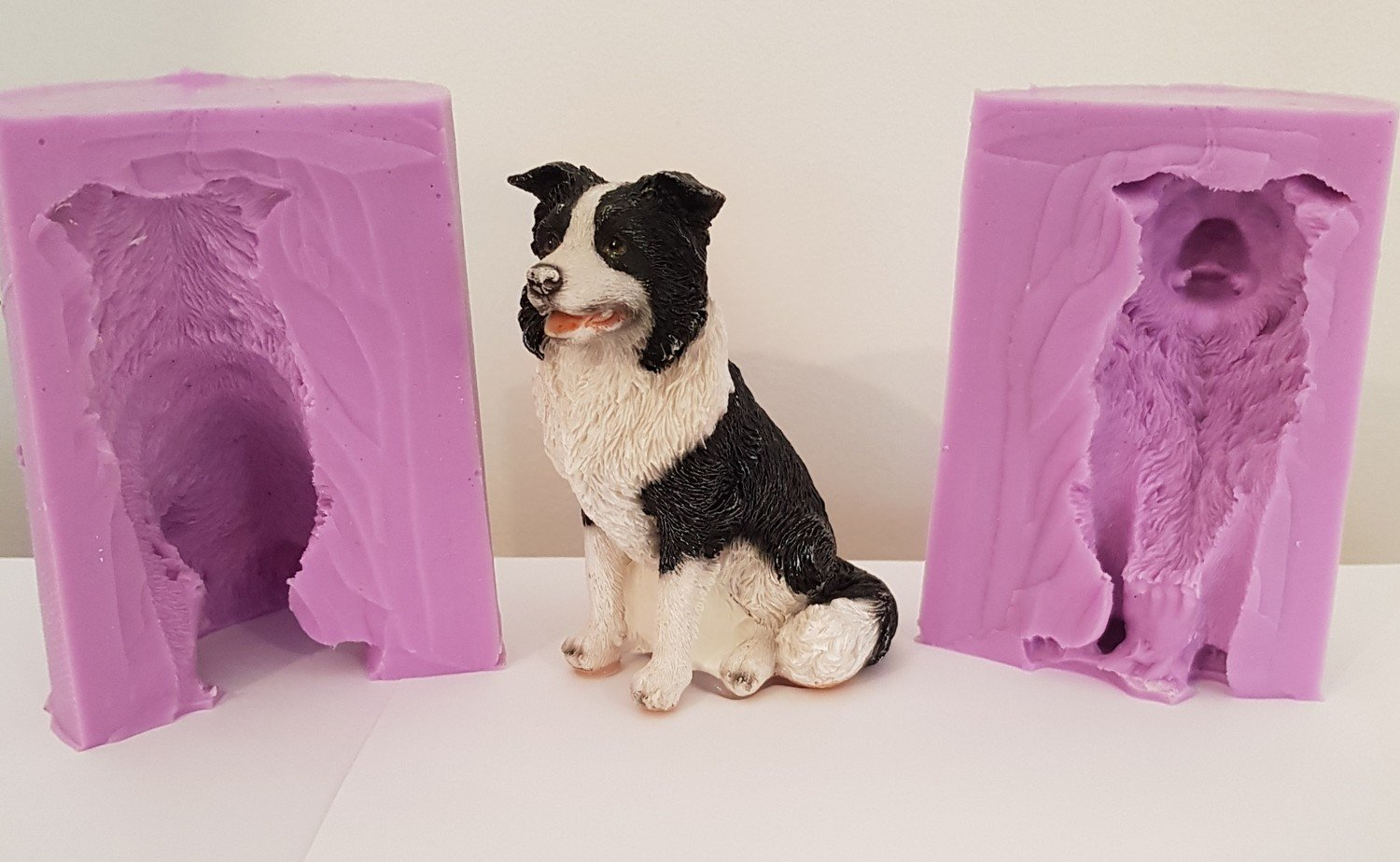 3D LARGE BORDER COLLIE SILICONE MOULD