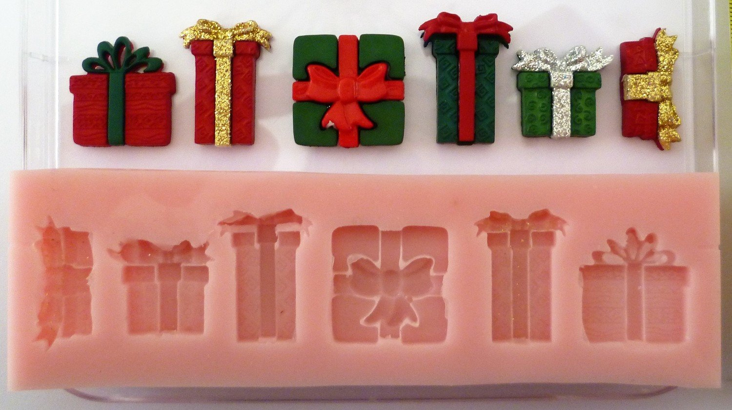 PRESENTS CHRISTMAS SILICONE MOULD