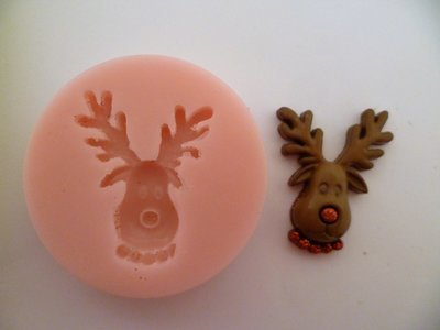 RUDOLPH CHRISTMAS SILICONE MOULD