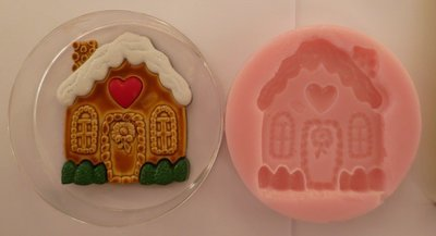 GINGERBREAD HOUSE CHRISTMAS SILICONE MOULD