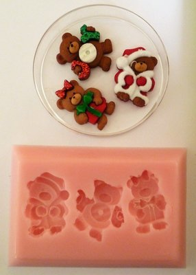 TEDDIES CHRISTMAS SILICONE MOULD
