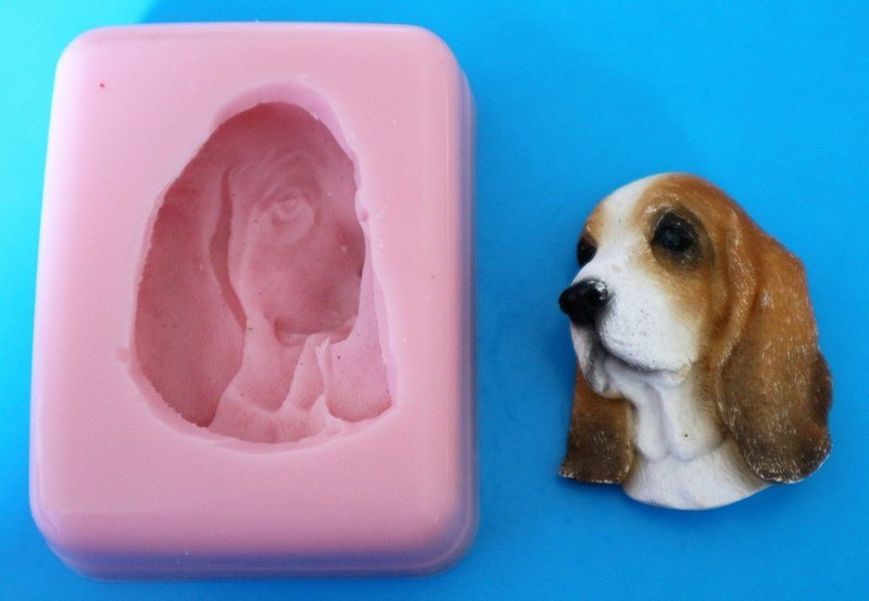 BASSET HOUND SILICONE MOULD