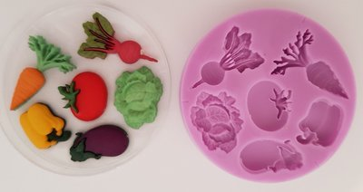 VEGETABLES SILICONE MOULD