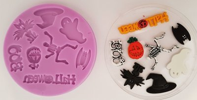 HALLOWEEN SET 2 SILICONE MOULD