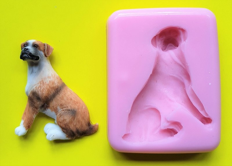 2D BOXER DOG SILICONE MOULD
