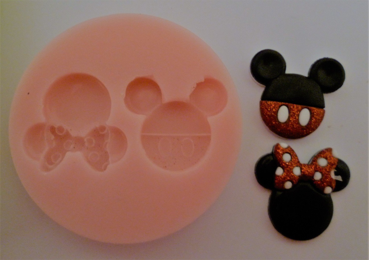 Mickey and Minnie Docorative heads silicone mould
