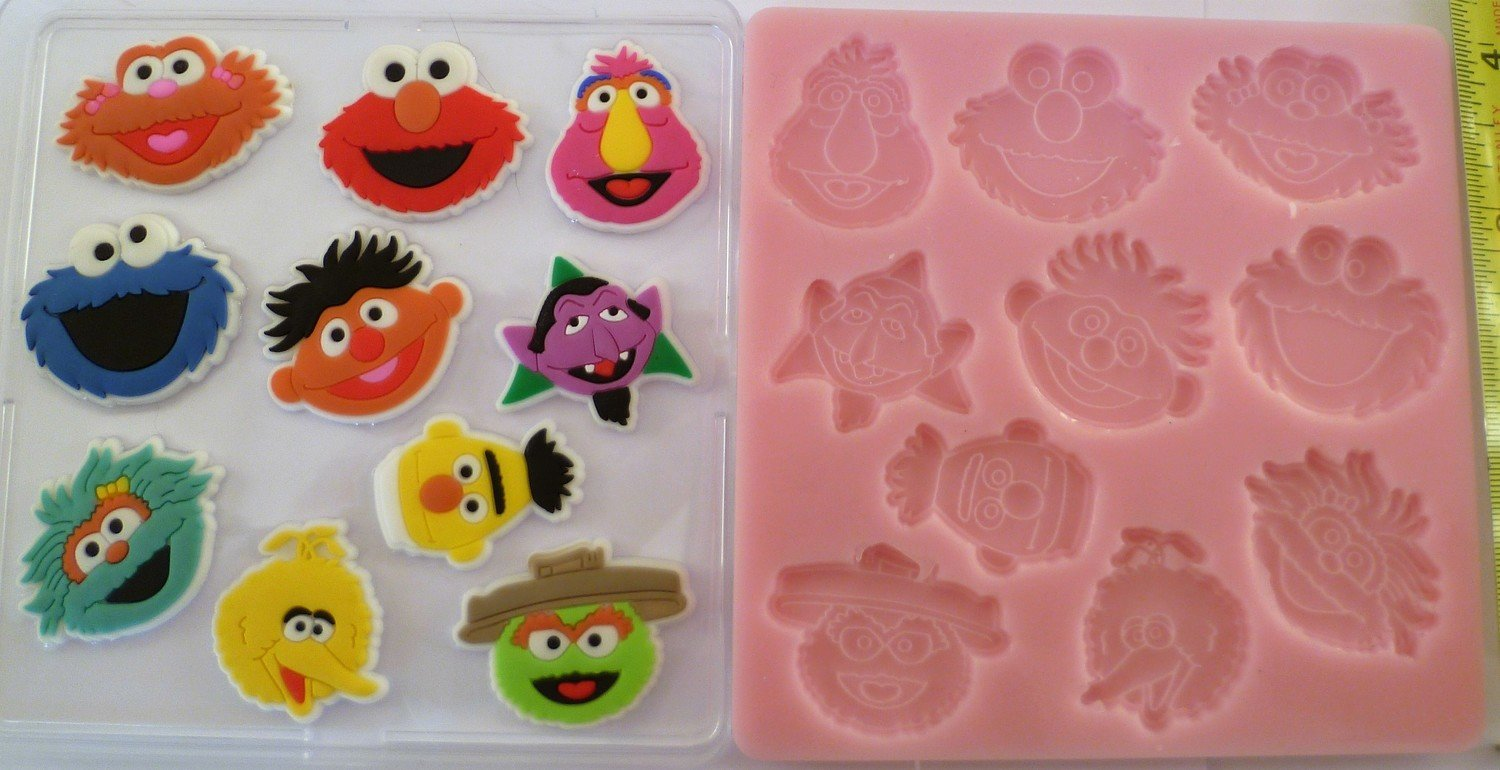 Sesame Street Silicone mould