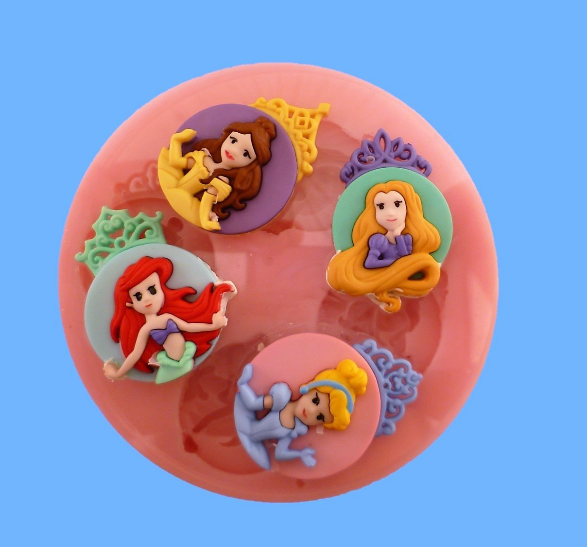 PRINCESS PLAQUES SILICONE MOULD