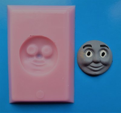 Thomas The Tank Engine Face silicone mould