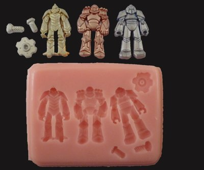 Robots silicone mould