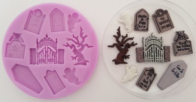 Graveyard Halloween Silicone Mould