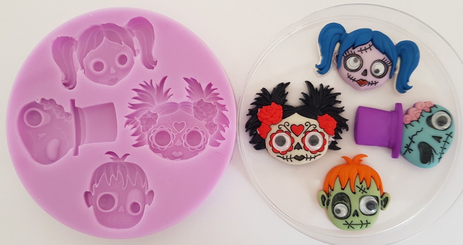 Halloween Faces silicone mould