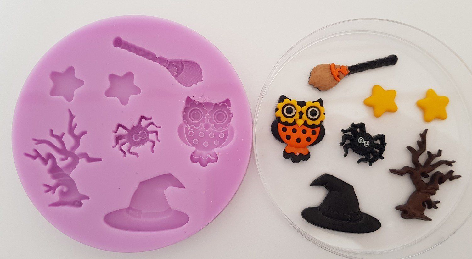Halloween Owl Set Silicone Mould