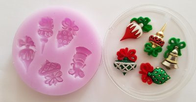 CHRISTMAS BAUBLES SILCIOEN MOULD