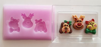 CHRISTMAS ANIMALS SILICONE MOULD