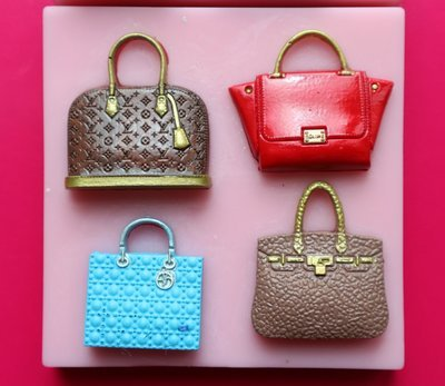 HANDBAGS 4 SILICONE MOULD