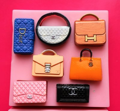 DESIGNER HANDBAGS 7 SILICONE MOULD
