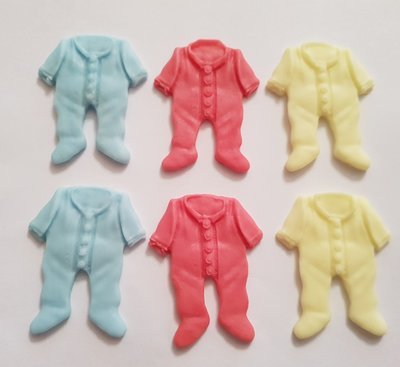 6 BABY GROWS EDIBLE CAKE TOPPERS