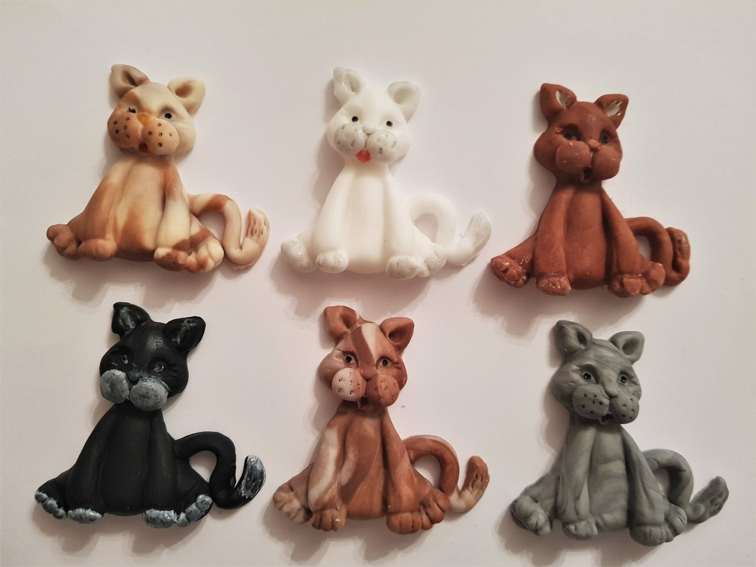 6 CATS EDIBLE CAKE TOPPERS
