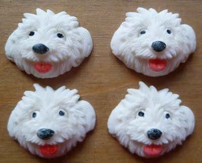 12 WESTIE EDIBLE CAKE TOPPERS