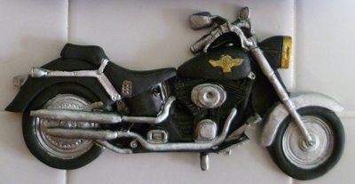 1 MOTORBIKE EDIBLE CAKE TOPPER
