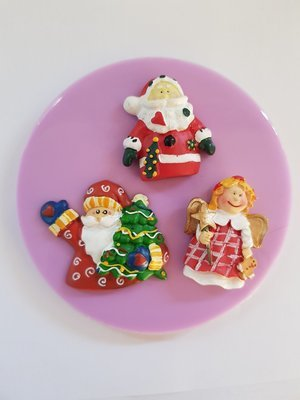 SANTAS AND ANGEL CHRISTMAS SILICONE MOULD
