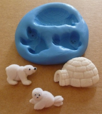 POLAR BEAR, SEAL & IGLOO SILICONE MOULD