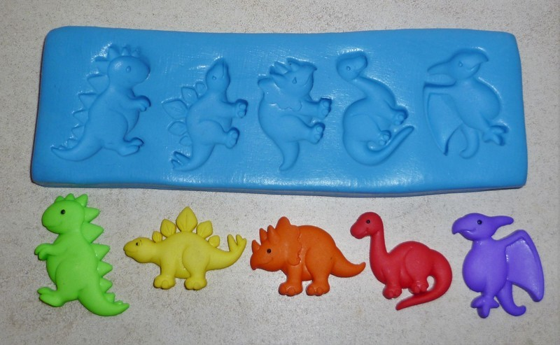 NEW DINOSAURS SILICONE MOULD