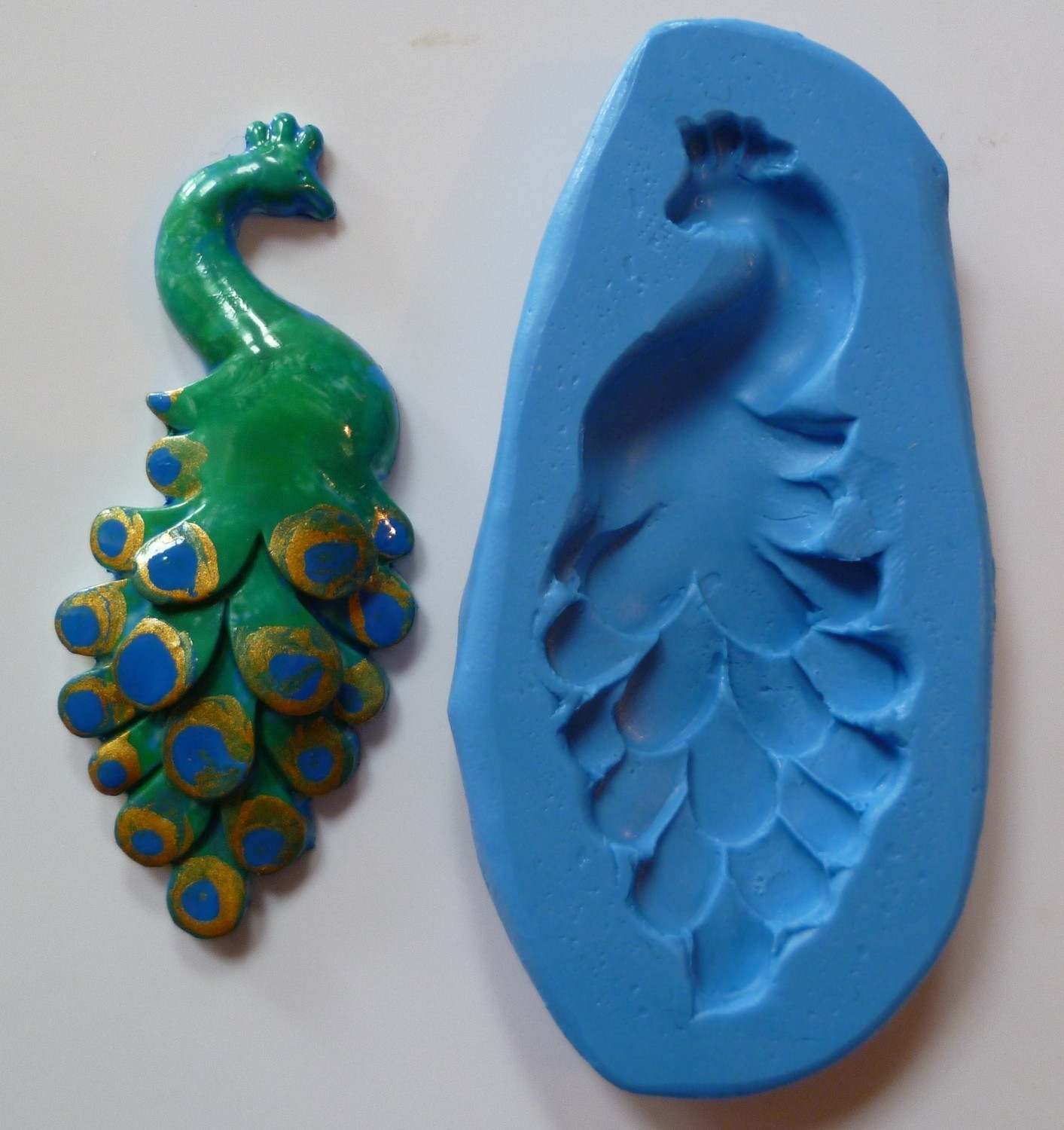 PEACOCK SILICONE MOULD