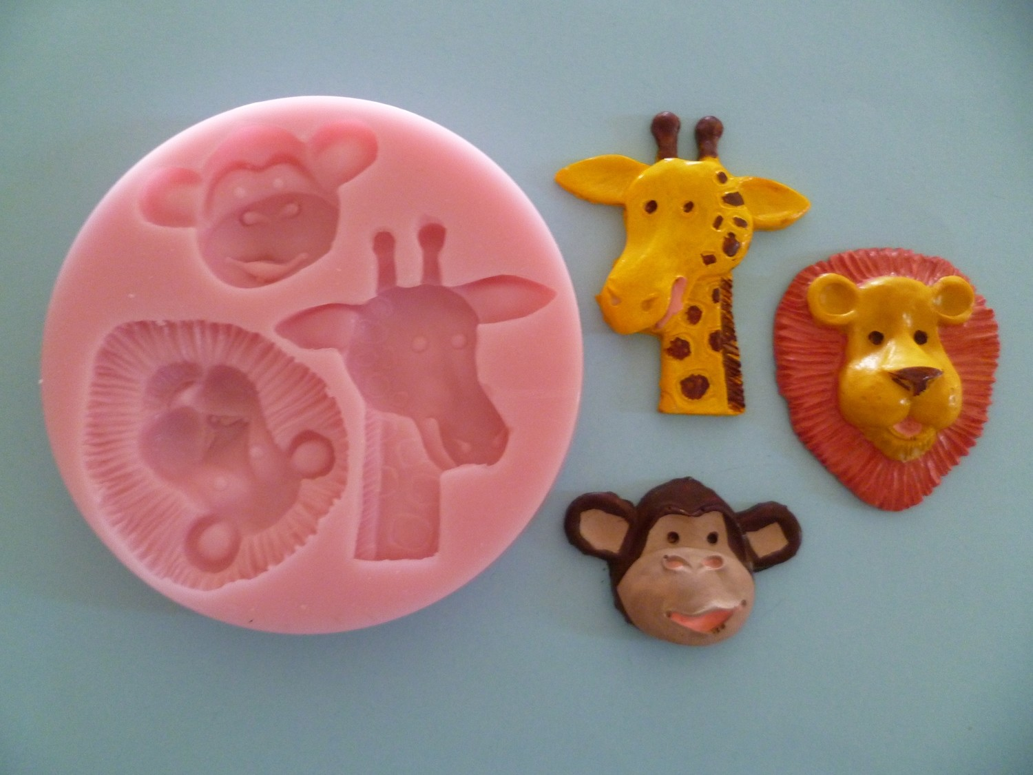 ZOO ANIMAL HEADS SILICONE MOULD