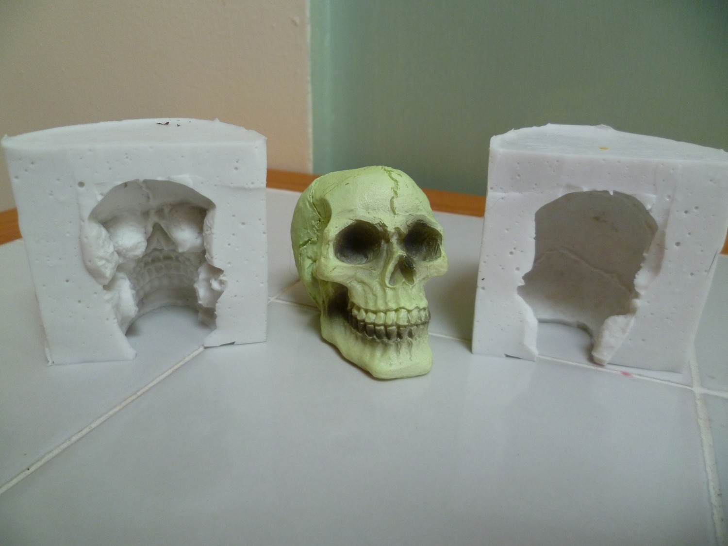 3D 5CM SKULL SILICONE MOULD