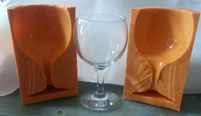 3D WINE GLASS SILICONE MOULD