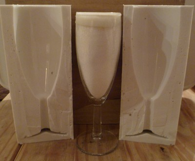 3D CHAMPAGNE FLUTE SILICONE MOULD
