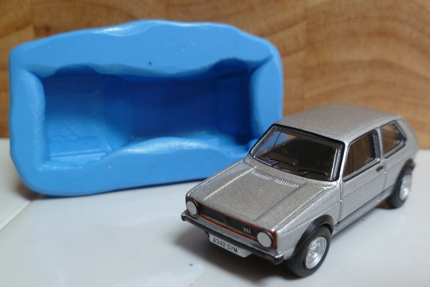 3D VW GOLF GTI CAR SILICONE MOULD