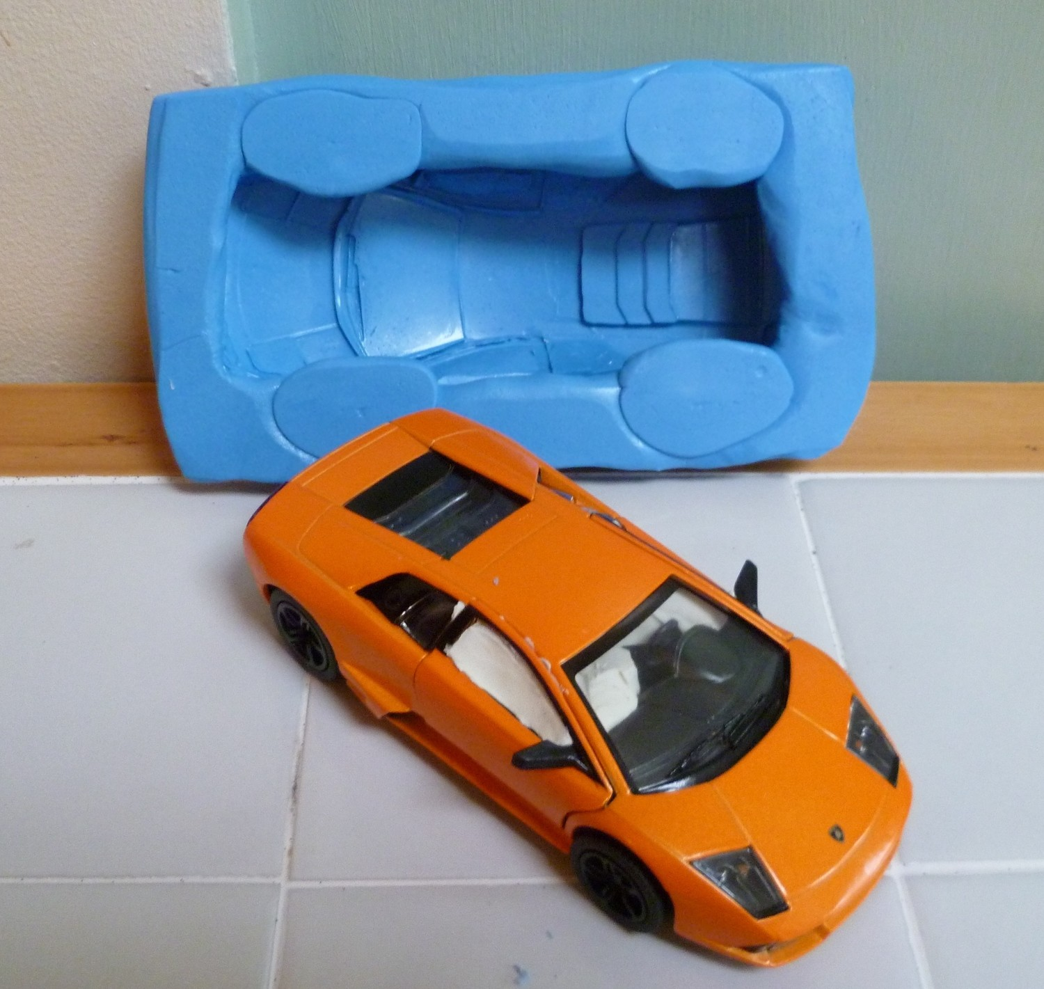 3D LAMBOURGHINI SILICONE MOULD