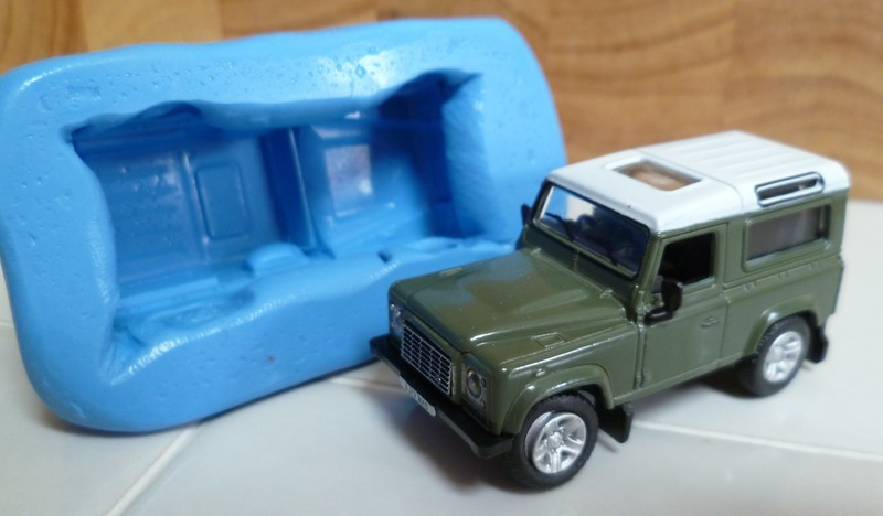 3D LAND ROVER DEFENDER SILICONE MOULD